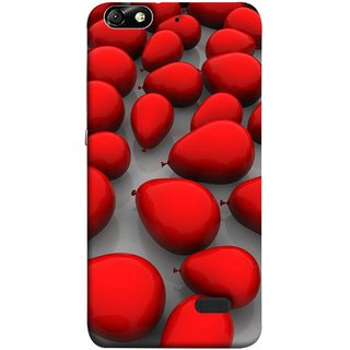FUSON Designer Back Case Cover For Huawei Honor 4C :: Huawei G Play Mini (Balloons Red Love Dark Gift Motivational)