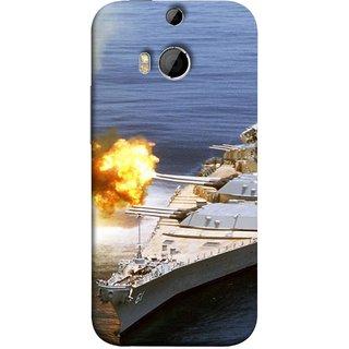 FUSON Designer Back Case Cover For HTC One M8 :: HTC M8 :: HTC One M8 Eye :: HTC One M8 Dual Sim :: HTC One M8s (Ocean Missile Destroyers Ins Delhi Modern Warships)