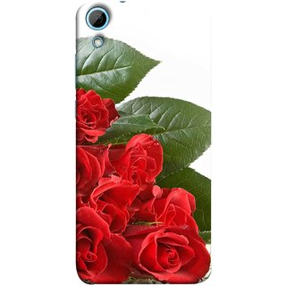 FUSON Designer Back Case Cover For HTC Desire 828 Dual Sim (Close Up Red Roses Chocolate Hearts For Valentines Day)
