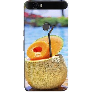FUSON Designer Back Case Cover For Huawei Nexus 6P :: Huawei Google Nexus 6P (Melon Cocktails At Swimming Pool Blue Waters )
