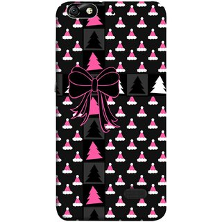 FUSON Designer Back Case Cover For Huawei Honor 4C :: Huawei G Play Mini (Hat Clip Art Christmas Tree Gifts For Winter Design)