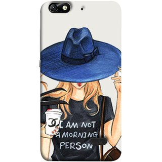 FUSON Designer Back Case Cover For Huawei Honor 4C :: Huawei G Play Mini (Retro Fashion.Summer Hat With Large Brim Coffee Cup)