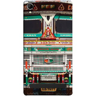 FUSON Designer Back Case Cover For Intex Aqua Power Plus :: Intex Aqua Power + (India Goods Lorry Decorated Indian Tata Truck)