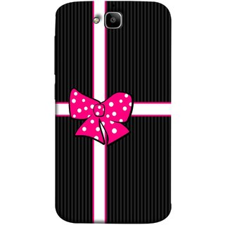 FUSON Designer Back Case Cover For Huawei Honor Holly 2 Plus :: Huawei Honor 2 Plus (Gift Box Wrapped In Black And White Striped Paper)