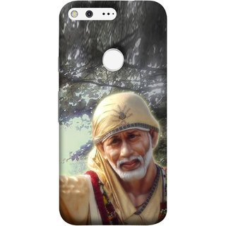 FUSON Designer Back Case Cover For Google Pixel (Shirdi Wale Sai Baba Sainath God Shradha Saburi Pooja)