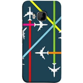 FUSON Designer Back Case Cover For HTC One M9 :: HTC One M9S :: HTC M9 (Aeropalnes Flights Schedules Origin Destination Map)