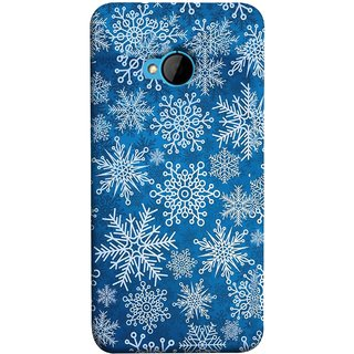 FUSON Designer Back Case Cover For HTC M7 :: HTC One M7 (Different Size Winter Snow Enjoying Pattern World)