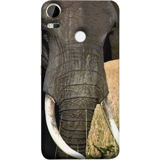 FUSON Designer Back Case Cover For HTC Desire 10 Pro (Close Up Portrait Of A Baby Elephant Long Ears Strips Forest)