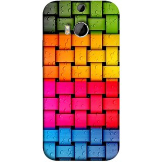 FUSON Designer Back Case Cover For HTC One M9 Plus :: HTC One M9+ :: HTC One M9+ Supreme Camera (Bright And Beautiful Colour Strips And Band Glossy)