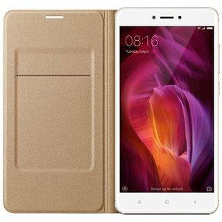 Redmi Note 4 Flip Cover by Karshni - Golden