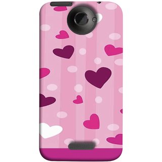 FUSON Designer Back Case Cover For HTC One X :: HTC One X+ :: HTC One X Plus :: HTC One XT (Always I Love You Red Hearts Couples Together Valentine)
