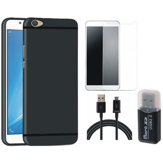 Nokia 5 Soft Silicon Slim Fit Back Cover with Memory Card Reader, Tempered Glass and USB Cable