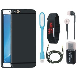 Nokia 3 Silicon Slim Fit Back Cover with Memory Card Reader, Digital Watch, Earphones, USB LED Light and AUX Cable
