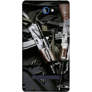 FUSON Designer Back Case Cover For HTC Windows Phone 8S :: HTC 8S (Ammunition Bullets Guns Machine Murders War )