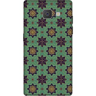 Print Opera Hard Plastic Designer Printed Phone Cover for Samsung Galaxy J7 Prime/Samsung Galaxy On7 2016 Dark green floral art