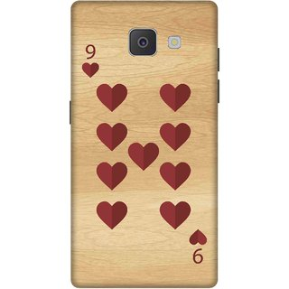 Print Opera Hard Plastic Designer Printed Phone Cover for Samsung Galaxy J7 Prime/Samsung Galaxy On7 2016 9 of heart wooden