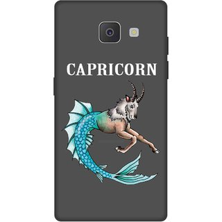 Print Opera Hard Plastic Designer Printed Phone Cover for Samsung Galaxy J7 Prime/Samsung Galaxy On7 2016 Capricorn grey