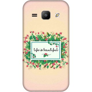Print Opera Hard Plastic Designer Printed Phone Cover for Samsung Galaxy J1 2015 Life is beautiful with pink background
