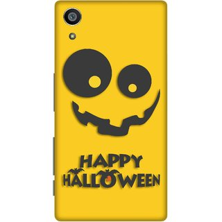 Print Opera Hard Plastic Designer Printed Phone Cover for Sony Xperia Z5 Happy halloween in black and yellow