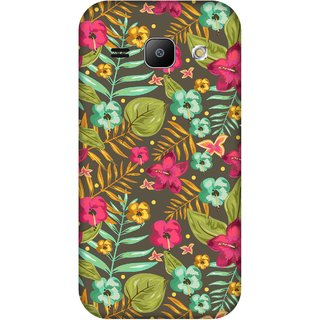 Print Opera Hard Plastic Designer Printed Phone Cover for Samsung Galaxy J1 2015 Green and pink floral