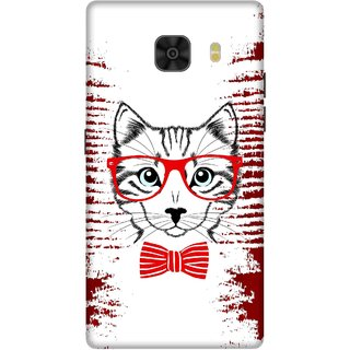 Print Opera Hard Plastic Designer Printed Phone Cover for Samsung Galaxy C9 Pro The clever fox red and white