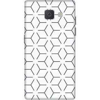 Print Opera Hard Plastic Designer Printed Phone Cover for Samsung Galaxy J7 Prime/Samsung Galaxy On7 2016 Line pattern black and white