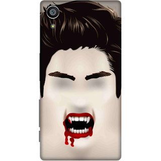 Print Opera Hard Plastic Designer Printed Phone Cover for Sony Xperia Z5 Halloween bloody scary face
