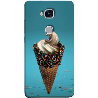 FUSON Designer Back Case Cover For Huawei Honor 5X :: Huawei Honor X5 :: Huawei Honor GR5 (Pinky Frosted Sprinkled Waffle Cone Crispy Coffee Flavour)