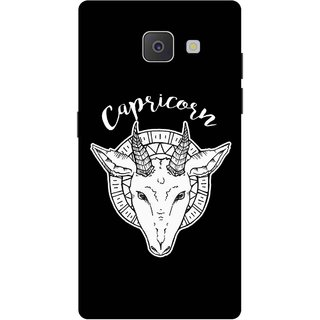 Print Opera Hard Plastic Designer Printed Phone Cover for Samsung Galaxy J7 Prime/Samsung Galaxy On7 2016 Capricorn black & white