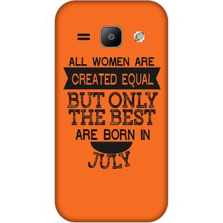 Print Opera Hard Plastic Designer Printed Phone Cover for Samsung Galaxy J1 2015 Best woman born in july