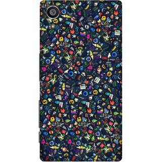Print Opera Hard Plastic Designer Printed Phone Cover for Sony Xperia Z5 Different colourful logos