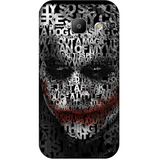 Print Opera Hard Plastic Designer Printed Phone Cover for Samsung Galaxy J1 2015 Black and white why so serious joker
