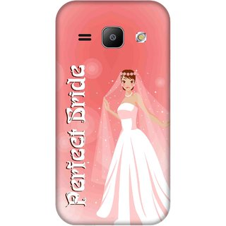 Print Opera Hard Plastic Designer Printed Phone Cover for Samsung Galaxy J1 2015 Perfect Bride