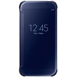 KEP CLEAR  Blue Flip Cover for Samsung Galaxy S7 Edge