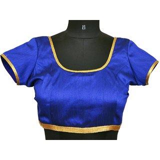 Stitch O Fab Blue raw silk women blouse-134 SOFbrswb134