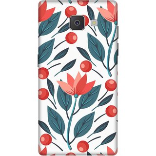 Print Opera Hard Plastic Designer Printed Phone Cover for Samsung Galaxy J7 Prime/Samsung Galaxy On7 2016 Artistic red flowers dark green leaves