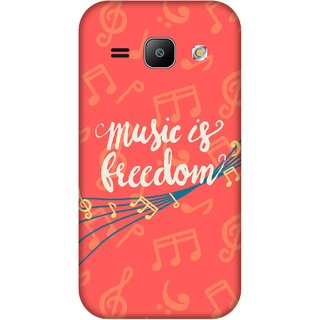 Print Opera Hard Plastic Designer Printed Phone Cover for Samsung Galaxy J1 2015 Music and freedom