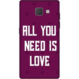 Print Opera Hard Plastic Designer Printed Phone Cover for Samsung Galaxy J7 Prime/Samsung Galaxy On7 2016 All you need is love