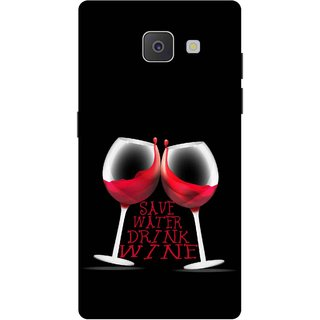 Print Opera Hard Plastic Designer Printed Phone Cover for Samsung Galaxy J7 Prime/Samsung Galaxy On7 2016 Red wine glasses