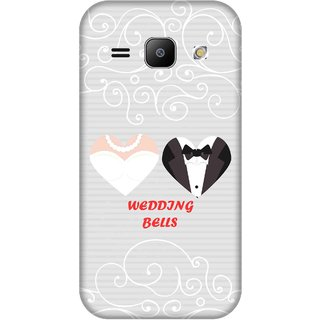 Print Opera Hard Plastic Designer Printed Phone Cover for Samsung Galaxy J1 2015 Wedding bells bride and groom