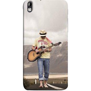 FUSON Designer Back Case Cover For HTC Desire 816 :: HTC Desire 816 Dual Sim :: HTC Desire 816G Dual Sim (Man Walking Road Mountains Sea Shore )