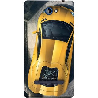 FUSON Designer Back Case Cover For HTC Windows Phone 8S :: HTC 8S (Yellow 918 Spyder Top View Expensive Cars)