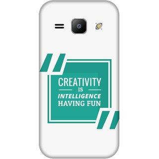 Print Opera Hard Plastic Designer Printed Phone Cover for Samsung Galaxy J1 2015 Creativity is intelligence having fun