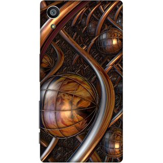 Print Opera Hard Plastic Designer Printed Phone Cover for Sony Xperia Z5 Artistic brown metal design