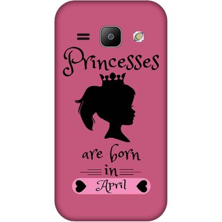 Print Opera Hard Plastic Designer Printed Phone Cover for Samsung Galaxy J1 2015 Princess are born in april