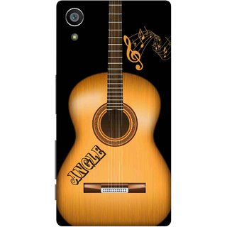 Print Opera Hard Plastic Designer Printed Phone Cover for Sony Xperia Z5 Wooden guitar
