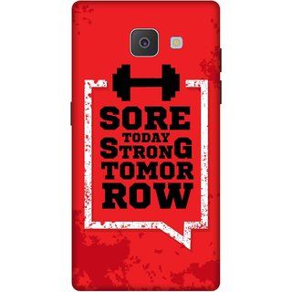 Print Opera Hard Plastic Designer Printed Phone Cover for Samsung Galaxy J7 Prime/Samsung Galaxy On7 2016 Sore today strong tomorrow