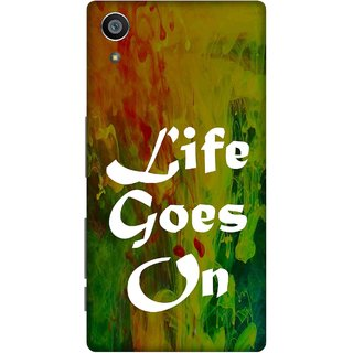Print Opera Hard Plastic Designer Printed Phone Cover for Sony Xperia Z5 Life goes on green background