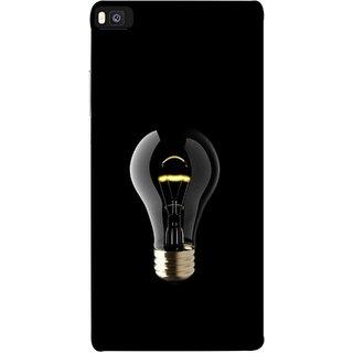 FUSON Designer Back Case Cover For Huawei P8 (Hanging Light Bulb In Dark Room Ceiling Darkness )