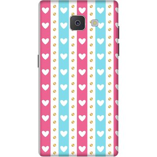 Print Opera Hard Plastic Designer Printed Phone Cover for Samsung Galaxy J7 Prime/Samsung Galaxy On7 2016 Beautiful hearts pink & blue